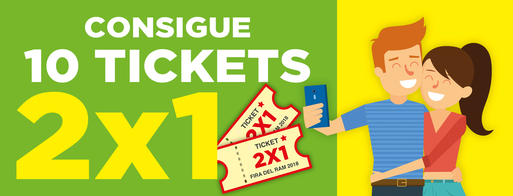 Consigue 10 Tickets 2X1
